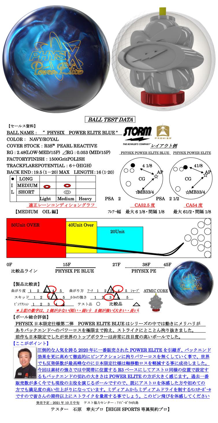 ボウリング用品 ボウリングボール ストーム STORM  フィジックスパワーエリートブルー PHYSIX POWER ELITE BLUE