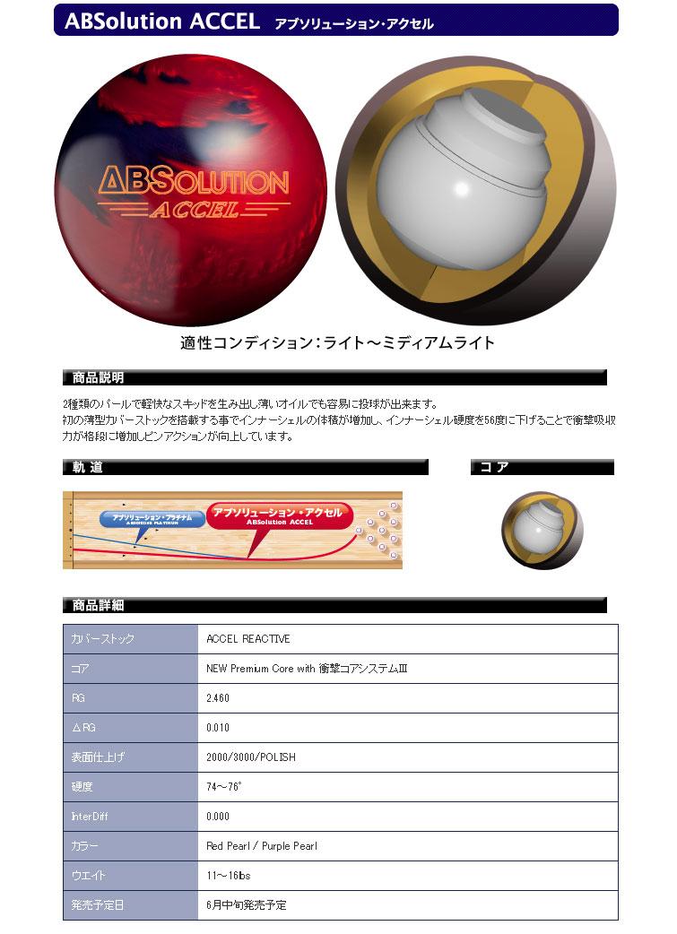 ボウリング用品 ボウリングボール ABS プロアマ アブソリューションアクセル ABSolution ACCEL