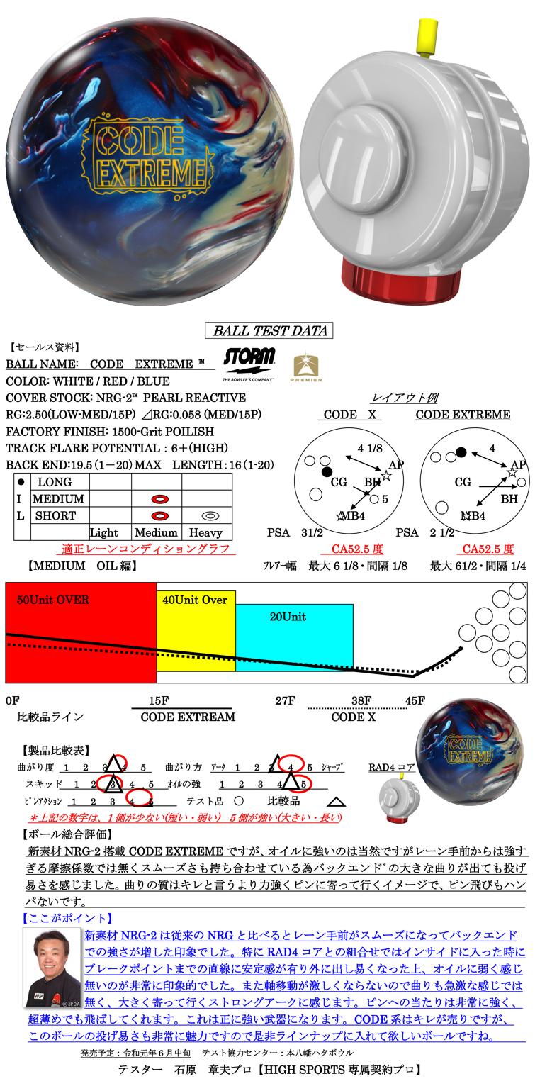 ボウリング用品 ボウリングボール ストーム STORM コードエクストリーム CODE EXTREME