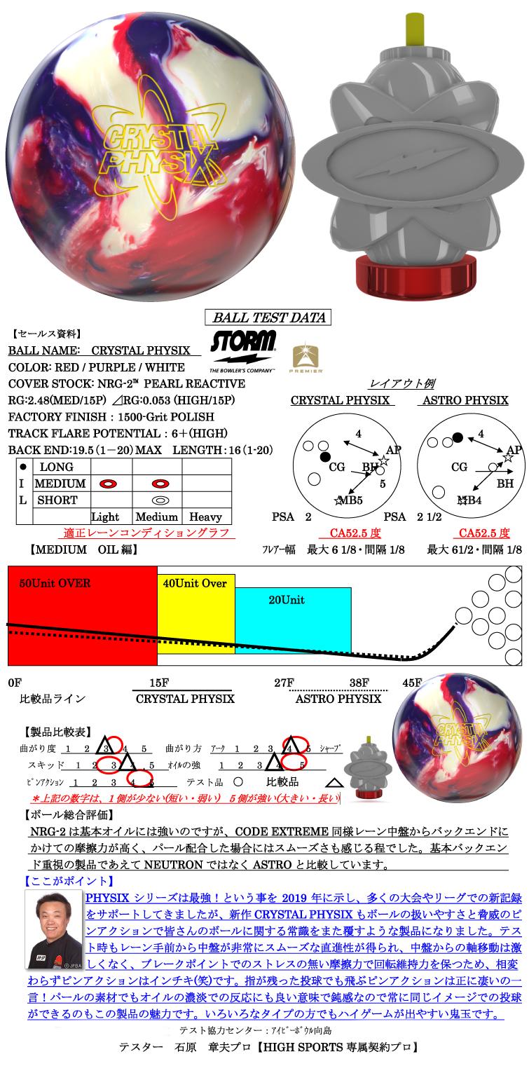 ボウリング用品 ボウリングボール ストーム STORM クリスタル フィジックス CRYSTAL PHYSIX