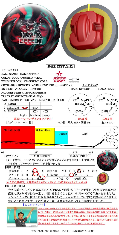 ボウリング用品 ボウリングボール ロトグリップ ROTOGRIP ヘイロウエフェクト HALO EFFECT
