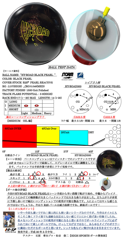 ボウリング用品 ボウリングボール ストーム STORM ハイロードブラックパール HY-ROAD BLACK PEARL