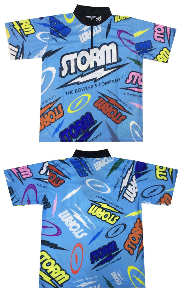 【ボウリングウェア ハイスポーツ HISPORTS】ストーム STORM SH526 ポップ シアン