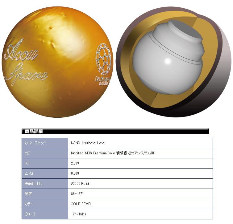 ボウリング用品 ボウリングボール ナノデス アキュスペア NANODESU Accu Spare