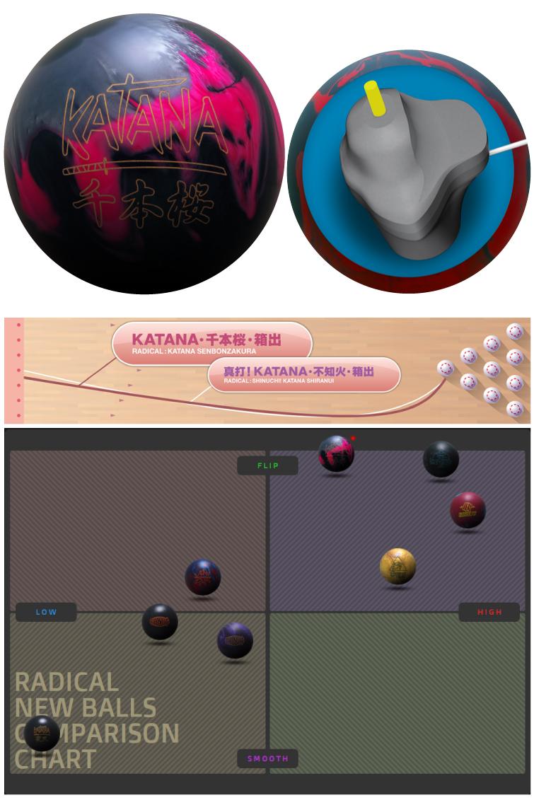 ボウリング用品 ボウリングボール ラディカル radical KATANA・千本桜