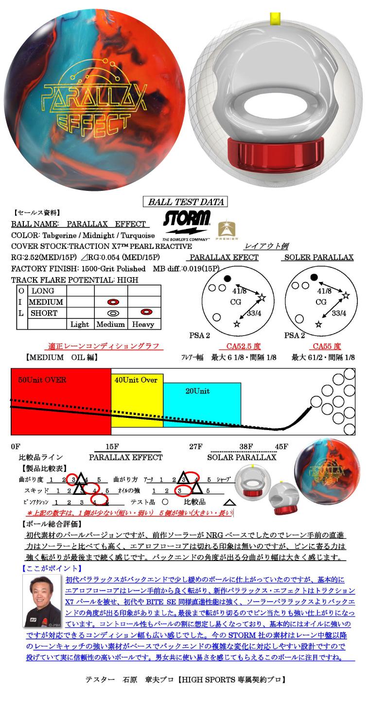 ボウリング用品 ボウリングボール ストーム STORM パララックス・エフェクト PARALLAX EFFECT