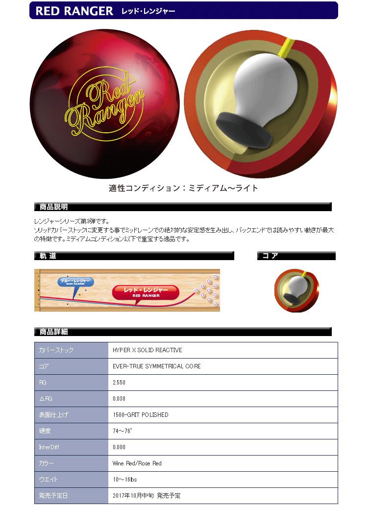 ボウリング用品 ボウリングボール ABS プロアマ レッドレンジャー PROam RED RANGER