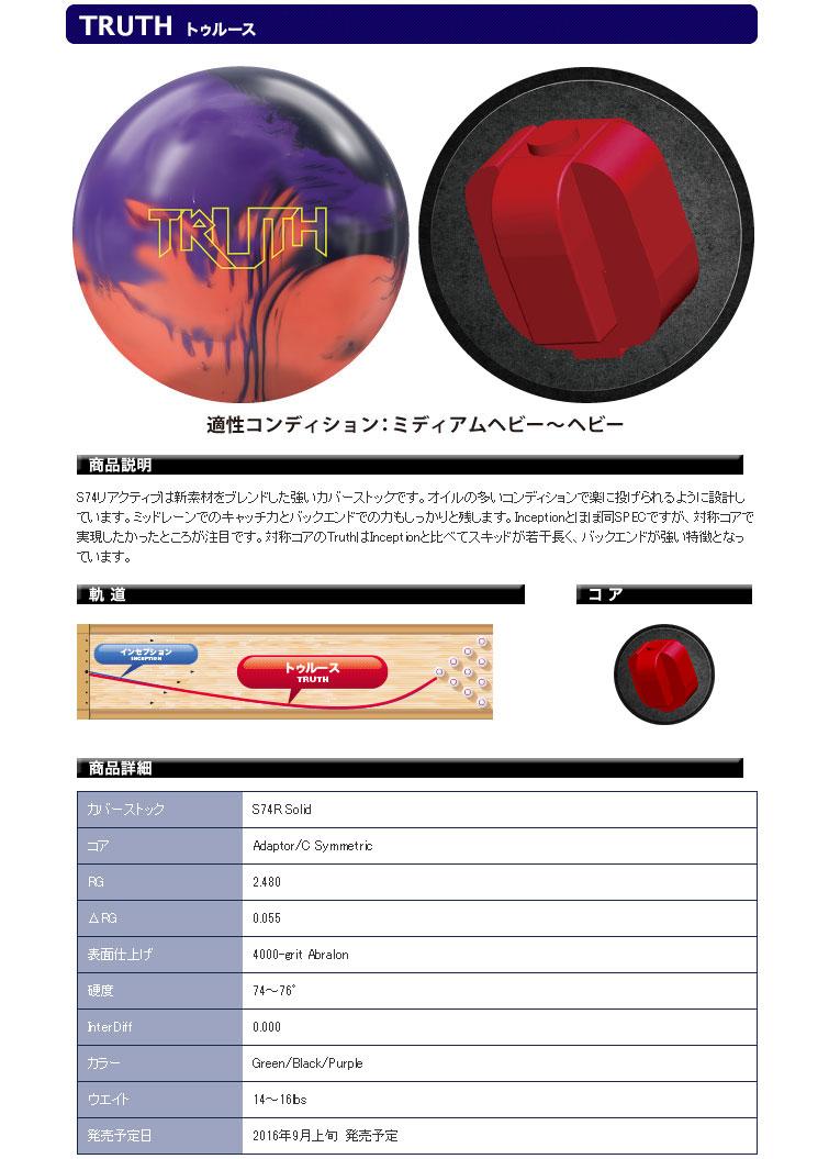 ボウリングボール 900グローバル 900GLOBAL TRUTH トゥルース